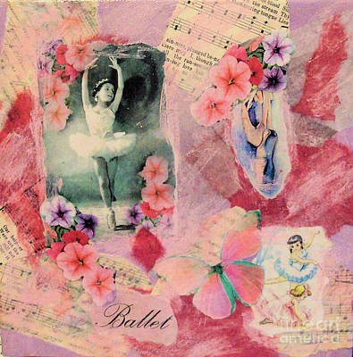 Mixed Media - Little Ballerina by Ruby Cross