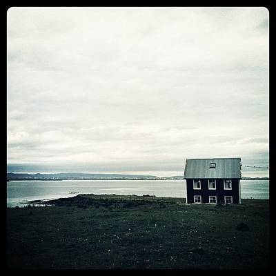 House Photograph - Little Black House By The Sea by Luke Kingma