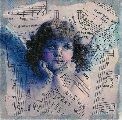 Mixed Media - Little Blue Angel by Ruby Cross