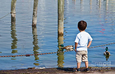Little Boy By The Water Art Print