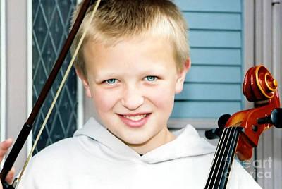 Photograph - Little Cellist 1 by Susan Stevenson