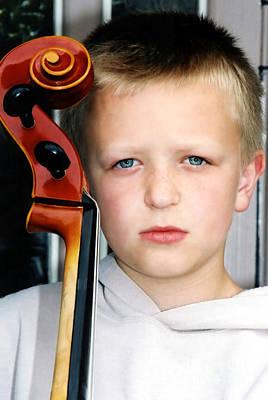 Photograph - Little Cellist 2 by Susan Stevenson