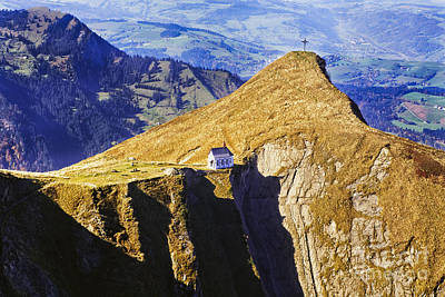 Church On The Hill Photograph - Little Chapel On The Mountain by George Oze