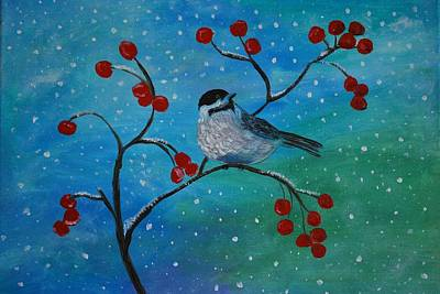 Painting - Little Chickadee by Leslie Allen