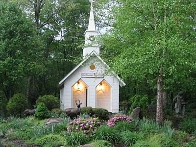 Little Church In The Mountains Art Print