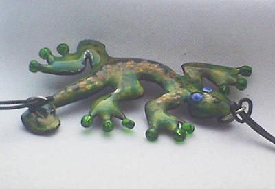 Enamel On Copper Jewelry - Little Dragon by Asya Ostrovsky