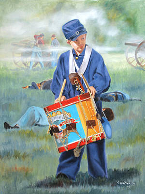 Painting - Little Drummer Boy by Karen Wilson