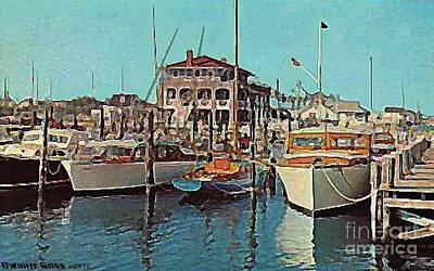 Painting - Little Egg Harbor Yacht Club by Dwight Goss