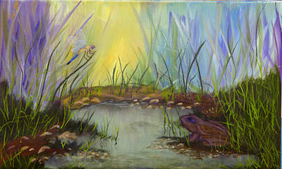 Painting - Little Frog Pond by J Cheyenne Howell