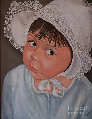 Little Girl With Lace Hat Art Print