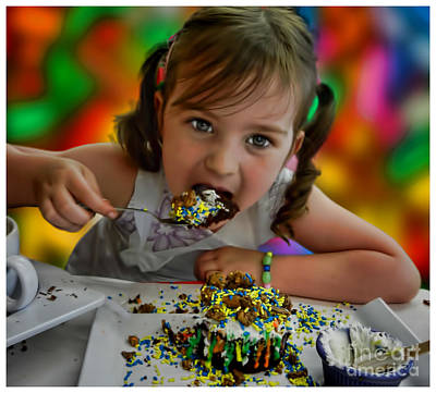Photograph - Little Girls Creation - Cupcake With Everything  by Alexandra Jordankova