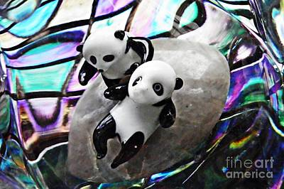 Photograph - Little Glass Pandas 16 by Sarah Loft