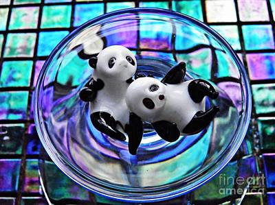 Photograph - Little Glass Pandas 23 by Sarah Loft