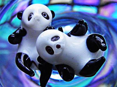 Photograph - Little Glass Pandas 25 by Sarah Loft