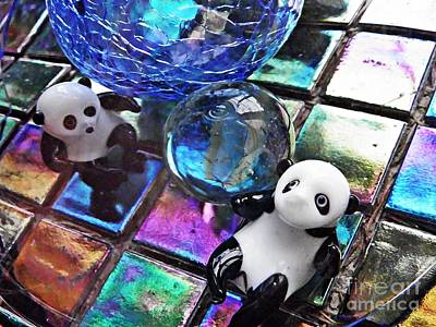 Photograph - Little Glass Pandas 29 by Sarah Loft