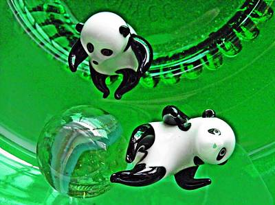 Photograph - Little Glass Pandas 39 by Sarah Loft