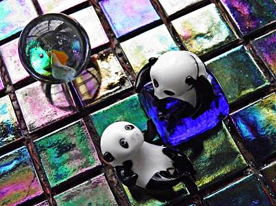 Photograph - Little Glass Pandas 6 by Sarah Loft