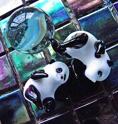 Photograph - Little Glass Pandas 9 by Sarah Loft