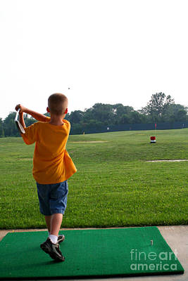 Photograph - Little Golfer by Susan Stevenson