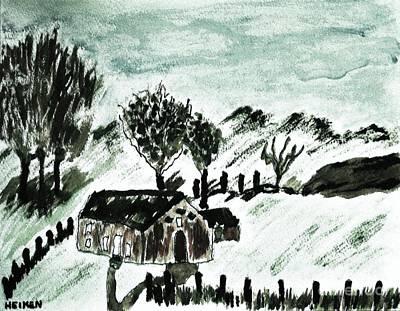 Little House On The Prarie Art Print by Marsha Heiken