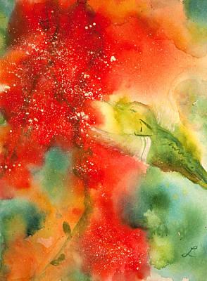 Little Hummer Print by Lynne Furrer