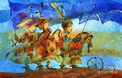 Knight Mixed Media - Little Knights by Svetlana and Sabir Gadghievs