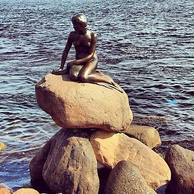 Travel Photograph - Little Mermaid by Luisa Azzolini