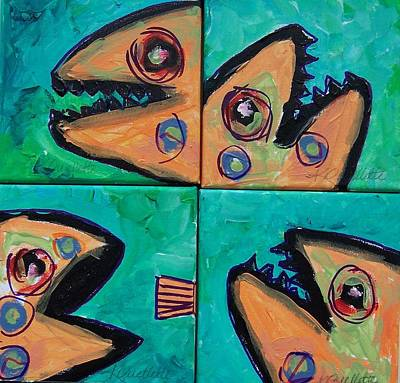Painting - Little Orange Fish by Krista Ouellette