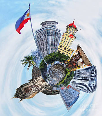 Photograph - Little Planet - Manila by Yhun Suarez