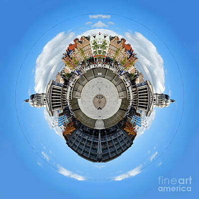 Photograph - Little Planet - Nottingham Town Hall by Yhun Suarez