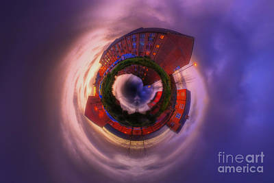 Photograph - Little Planet - Suburban Sunset by Yhun Suarez