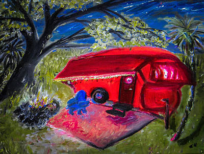 Painting - Little Red Camper by Christy Usilton