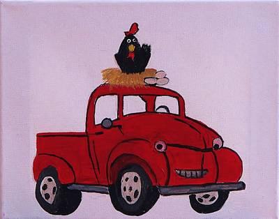 Little Red Coop Art Print by Linda Brown