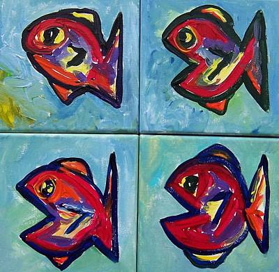 Painting - Little Red Fish by Krista Ouellette