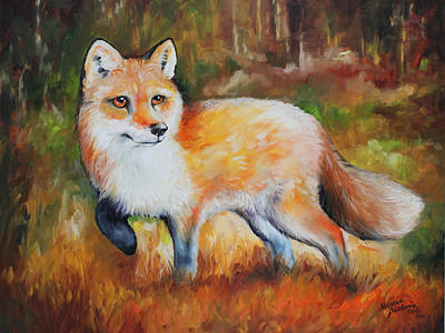 Red Fox Painting - Little Red Fox Commissioned by Marcia Baldwin