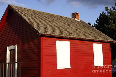 Little Red School House Photograph - Little Red School House Saint John New Brunswick by John  Mitchell