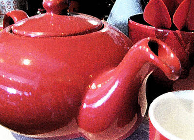 Photograph - Little Red Teapot by Rich Franco