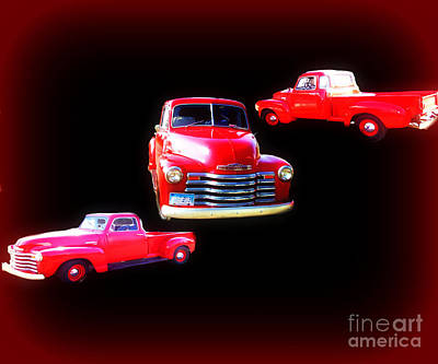 Photograph - Little Red Truck 1949 by Scott B Bennett