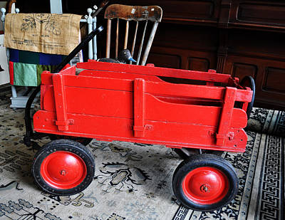 Little Red Wagon Print by Daryl Macintyre
