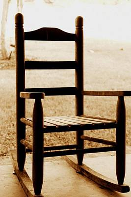 Photograph - Little Rocking Chair by Hannah Miller