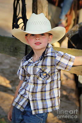 Photograph - Little Texas Cowboy by Lori Mellen-Pagliaro