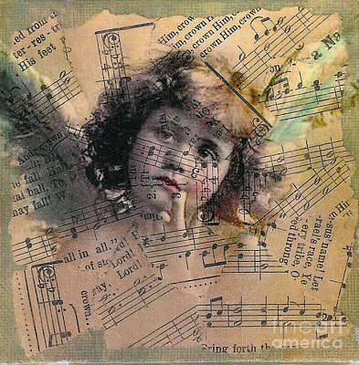 Mixed Media - Little Thoughtful Angel by Ruby Cross