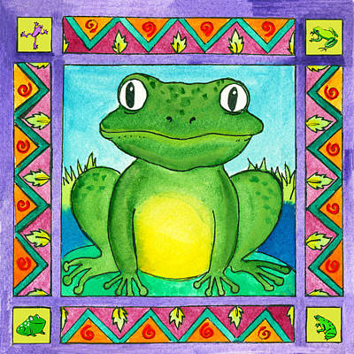 Little Toad Art Print by Pamela  Corwin