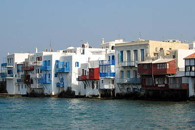 Photograph - Little Venice In Mykonos by Carla Parris