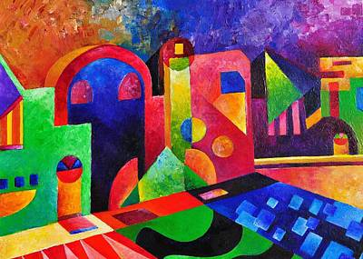 Little Village By Sandralira Art Print