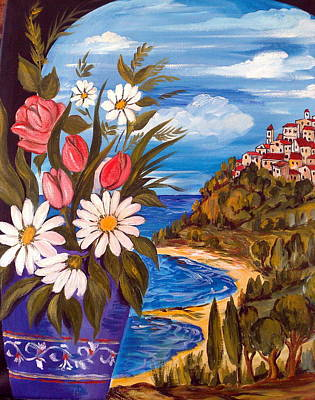 Art Print featuring the painting Little Village by Roberto Gagliardi