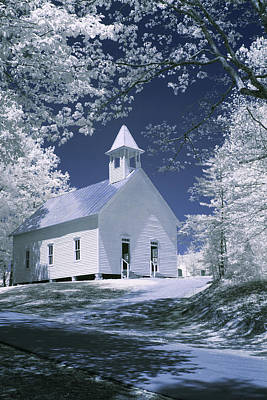 Laura James Photograph - Little White Church by Laura James