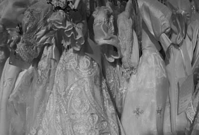 Little White Dresses Art Print by Anna Villarreal Garbis
