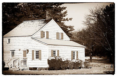 Old School Houses Photograph - Little White House by John Rizzuto