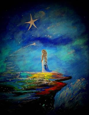 Constellations Painting - Little Wishes Too by Leslie Allen
